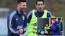 Koeman dismisses 'disrespectful' Messi overtures by PSG star Di Maria as Barca icon set to make decision at end of season