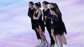 Channel One Cup: Women's figure-skating team lands historic victory in fierce contest with male rivals at Moscow festival (VIDEO)