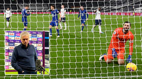 Mourinho feels 'pressure' after Spurs slump to ANOTHER loss against Chelsea as row breaks out over bizarre dig at female reporter