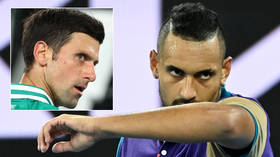 'Tell your girlfriend to get out of my box': Tennis lout Nick Kyrgios attacks own team, brands Djokovic 'very strange cat' (VIDEO)