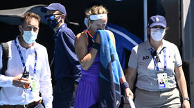 'All this goes out on the internet': Azarenka refuses to talk about health problems after struggling to breathe in Aus Open exit