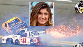 'Didn't get the finish I wanted': NASCAR starlet Hailie Deegan crashes at Daytona, multi-truck carve-up ends season opener (VIDEO)