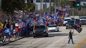 On Presidents Day, a crowd of supporters turns out in Florida to cheer Trump (VIDEO)