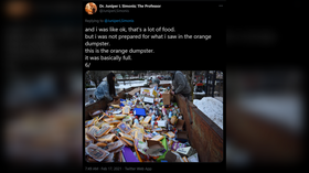 Stomachs churn after Portland police face-off with crowd picking through mountain of food… tossed during power outage (PHOTOS)
