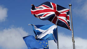 London takes aim at Sturgeon after Scottish leader says EU flag must be flown on government buildings, not Union flag
