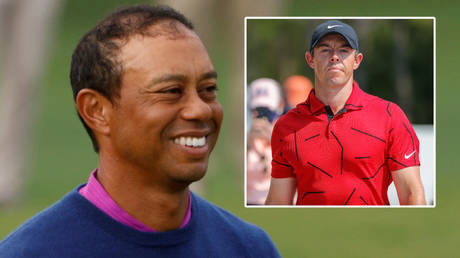 Golf stars including Rory McIlroy (right) have paid tribute to Tiger Woods © Mike Segar / Reuters © Mike Watters / USA Today Sports via Reuters
