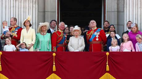 Members of the British royal family in London, Britain June 8, 2019.