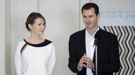 FILE PHOTO: Syria's President Bashar Assad and his wife Asma © Reuters / SANA