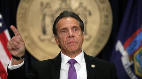 New York state Gov. Andrew Cuomo speaks at a news conference on September 08, 2020 in New York City.  © AFP / SPENCER PLATT