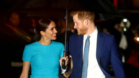FILE PHOTO: Prince Harry and Meghan, Duchess of Sussex, arrive at the Endeavour Fund Awards in London, UK, March 5, 2020 © Reuters / Hannah McKay