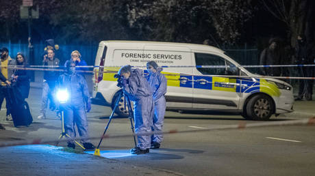 FILE PHOTO: Forensic investigators gather evidence after Metropolitan Police closed off Poynders Road in Clapham on March 9, 2021 while investigating Sarah Everard's disappearance © Peter ManningGlobal Look Press/Keystone Press Agency