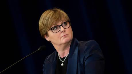 FILE PHOTO. Australia's Minister for Defense Linda Reynolds. ©Brendan Smialowski / Pool via REUTERS