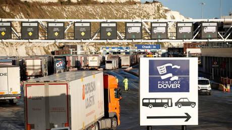 Port of Dover in Britain