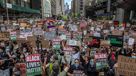 A demonstration organized by Black Lives Matter Greater New York.© Michael Nigro/Pacific Press/LightRocket via Getty Images)