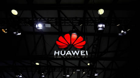 FILE PHOTO: A Huawei logo is seen at the Mobile World Congress (MWC) in Shanghai, China February 23, 2021.