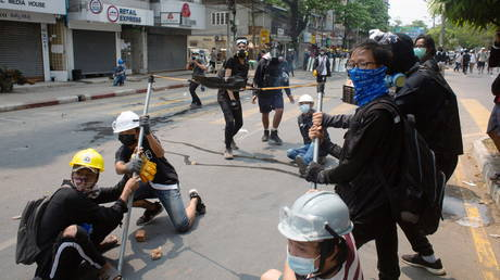China demands end to violence and looting of its factories in Myanmar as 39 reported killed in anti-coup protest thumbnail