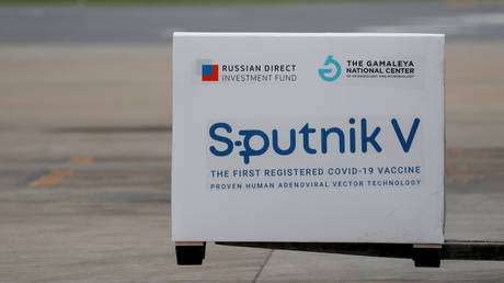 FILE PHOTO: A shipment of doses of the Sputnik V vaccine is seen after arriving at Ezeiza International Airport, in Buenos Aires, Argentina January 28, 2021.