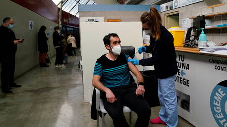 Spain has delivered over 980,000 doses of the AstraZeneca vaccine so far.