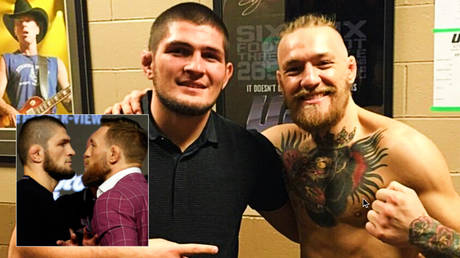 Conor McGregor (right) has offered Khabib Nurmagomedov a message following his UFC retirement © Noah K Murray / USA Today Sports via Reuters | © Instagram / thenotoriousmma