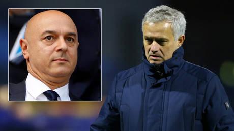 Tottenham owner Daniel Levy (left) and manager Jose Mourinho © Phil Noble / Reuters © Antonio Bronic / Reuters
