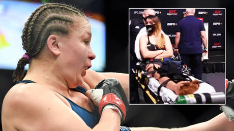 UFC fighter Julija Stoliarenko collapsed twice at a weigh in © Stephen R Sylvanie / USA TODAY Sports via Reuters | © Ross_Markey / Twitter