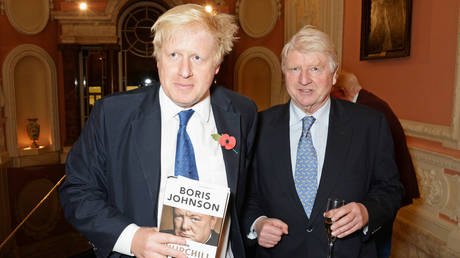 FILE PHOTO Boris Johnson (L) and father Stanley Johnson in London, England. © Getty Images / David M. Benett