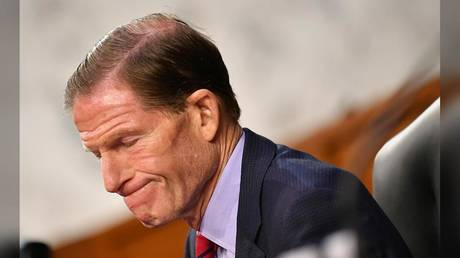 US Senator Richard Blumenthal (D-Connecticut) is shown at a Senate hearing last October.