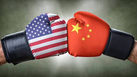 A boxing match between the USA and China. © Getty Images / Zerbor