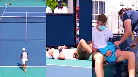 British tennis star Jack Draper had an unfortunate on-court incident © Twitter / TennisTV