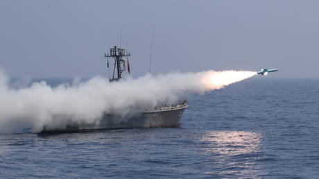 FILE PHOTO: A missile is launched by Iran's military during a navy exercise in the Gulf of Oman. © Reuters / Iranian Army