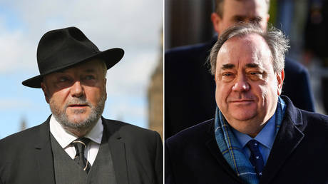 (L) George Galloway © Dan Kitwood / Getty Images; (R) Alex Salmond © Jeff J Mitchell / Getty Images