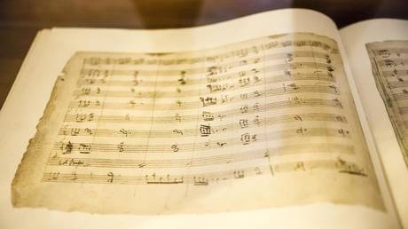 Original notation by opera composer Vincenzo Bellini. ©Martin Jung / Global Look Press