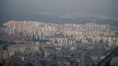 FILE PHOTO. A general view of apartment complexes in Seoul, South Korea.