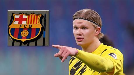 Highly-rated Haaland could be a target for Barcelona. © Reuters