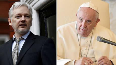 (L) © REUTERS / Peter Nicholls; (R) © Vatican Media / Handout via REUTERS