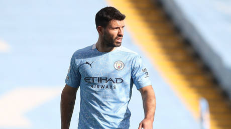 Aguero will bid farewell to City at the end of the current campaign. © Reuters