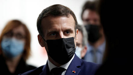 FILE PHOTO of French President Emmanuel Macron, dated March 1, 2021 © REUTERS/Benoit Tessier/Pool