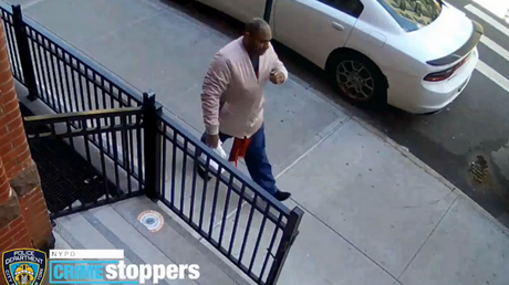 Surveillance footage captured on Monday shows the suspect in a brutal attack on a 65-year-old Asian American woman in New York.