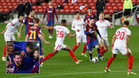 Lionel Messi goes wild on pitch as Barcelona earn dramatic cup semifinal comeback win – two days after police raid on club (VIDEO)