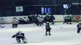 WATCH: Russian 10-year-olds trade blows in WILD hockey brawl