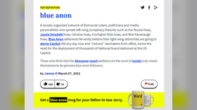 Urban Dictionary restores 'Blue Anon' after censorship backlash over new label for left-wing conspiracy theorists