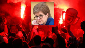 Fuming minister Nicola Sturgeon rages that football champs Rangers 'didn't do nearly enough' to stop fans' wild partying (VIDEO)
