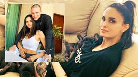 'We're getting divorced': Russian footballer Mamaev's model wife 'announces split' on Instagram days after bizarre 'prank suicide'