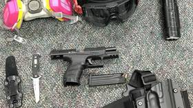 Portland police confiscate guns, hammers & other weapons after corralling 100 protesters during violent demonstration