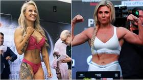 'No modeling for a few days': Football-loving 'Blonde Bomber' says huge boxing bruise confused facial recognition software (VIDEO)