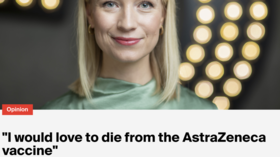 Norwegian journalist says she'd 'LOVE TO DIE' from AstraZeneca's vaccine if it helps win the 'war against the corona'