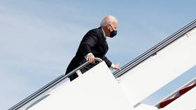 Biden falls THREE times as he climbs Air Force One stairs, sends critics & supporters into frenzy (VIDEOS)