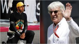 'Lewis needs to be careful': Bernie Ecclestone claims F1 king Hamilton is being USED by Black Lives Matter