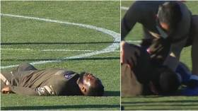 Worrying scenes as Atletico Madrid forward Moussa Dembele COLLAPSES during training as medics rush to his aid (VIDEO)