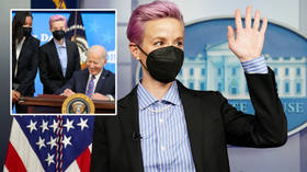 Money talks: Women's football ace Rapinoe earns mixed reaction after using White House speech to say she's been 'devalued' (VIDEO)